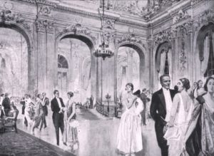 A view of the ballroom at the Hotel Cecil