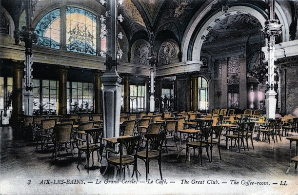The cafe in the Grand Cercle of Aix-Le-Bain