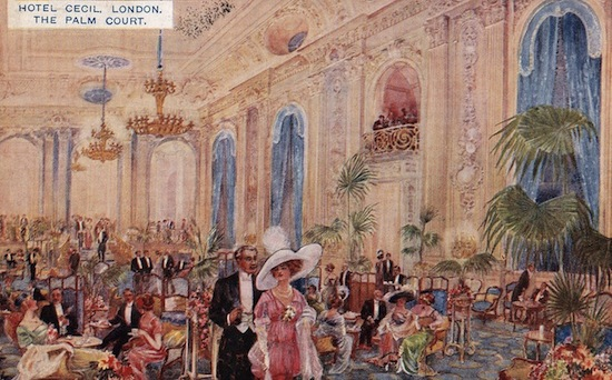 The Palm Court at the Hotel Cecil