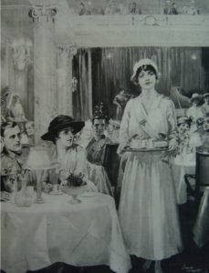 A view of the interior of Ciro's restaurant, London c.1918