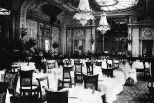 The interior of Ciro's restaurant in Paris
