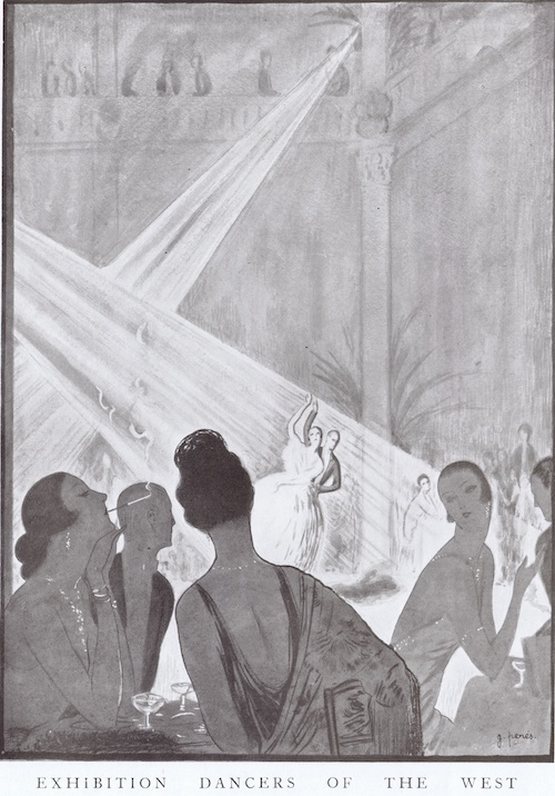 A sketch of exhibition dancers performing at Ciro's, London, 1922