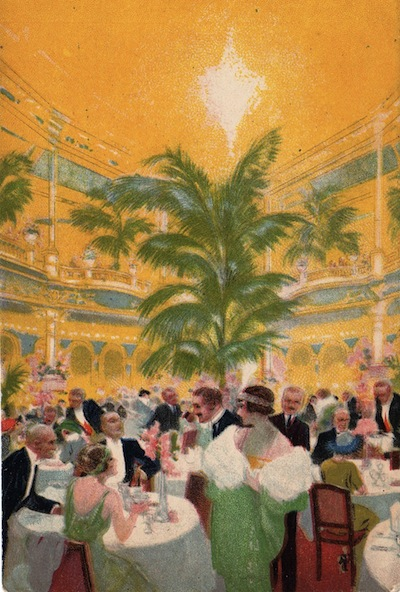 An impression of the interior of Frascati restaurant, London