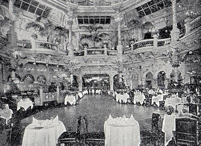 The Interior of Frascati restaurant, London