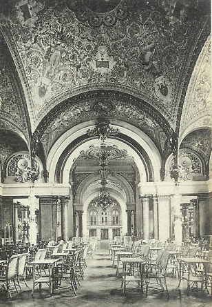 The Cafe showing the vaulted ceiling in the Grand Cercle of Aix-Le-Bain