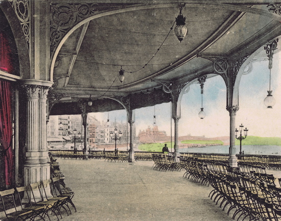 A view of the terrace at the Kursaal in Ostend