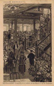 The entrance hall of Poccardi restaurant, Paris