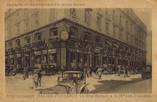 The exterior of Poccardi restaurant, Paris