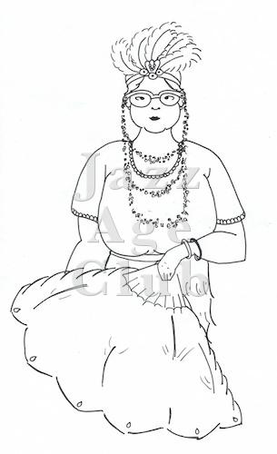 A cartoon of Mrs Smith-Wilkinson