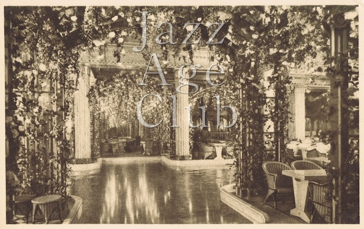 Seating area at the Lido, Paris