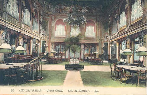 The Salle de Baccarat in the Grand Cercle of Aix-Le-Bain