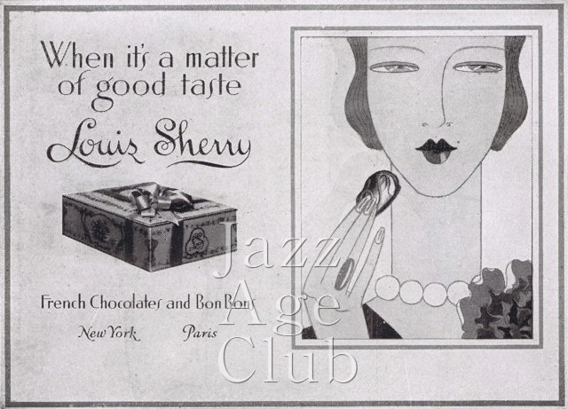 An advert for Louise Sherry Chocolates