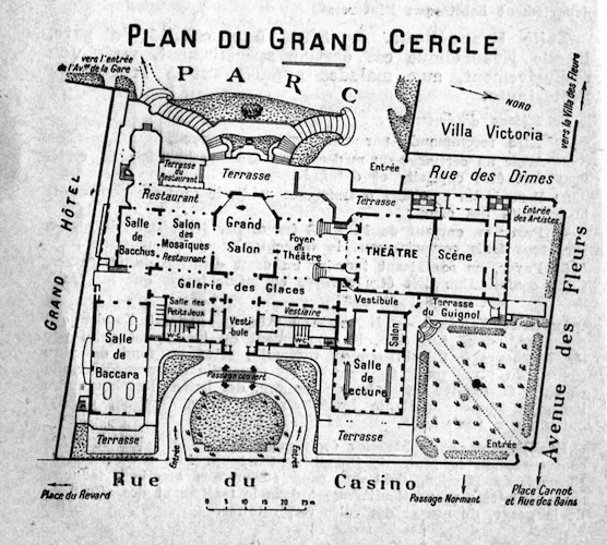A plan of the Grand Cercle of Aix-Le-Bain