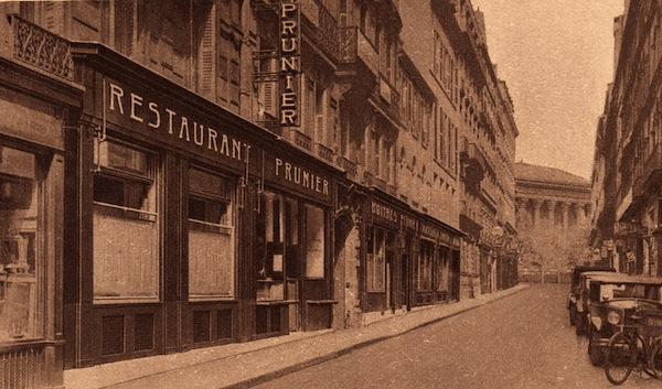 The exterior of Restaurant Prunier, Paris
