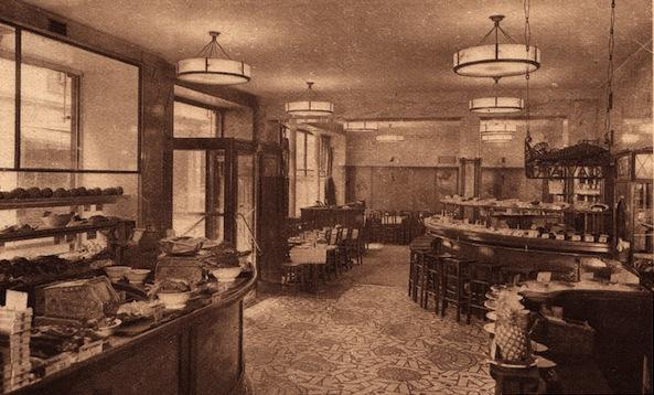 The interior of Restaurant Prunier, Paris