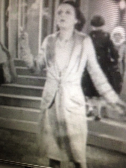 Dolly Tree as one of the models in the mannequin parade from The Lodger (1926)