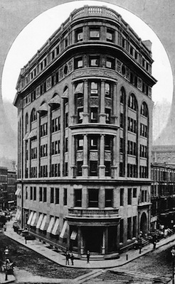 The Second Delmonico's at Beaver Street & South William Street, New York (c.1891)