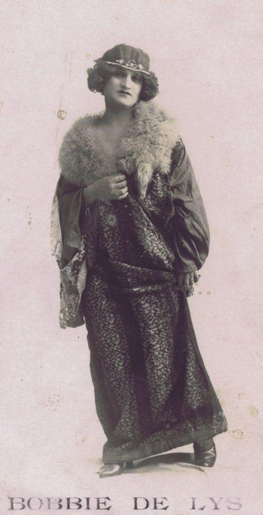 Bobbie De Lys - drag performer in the Jazz Age