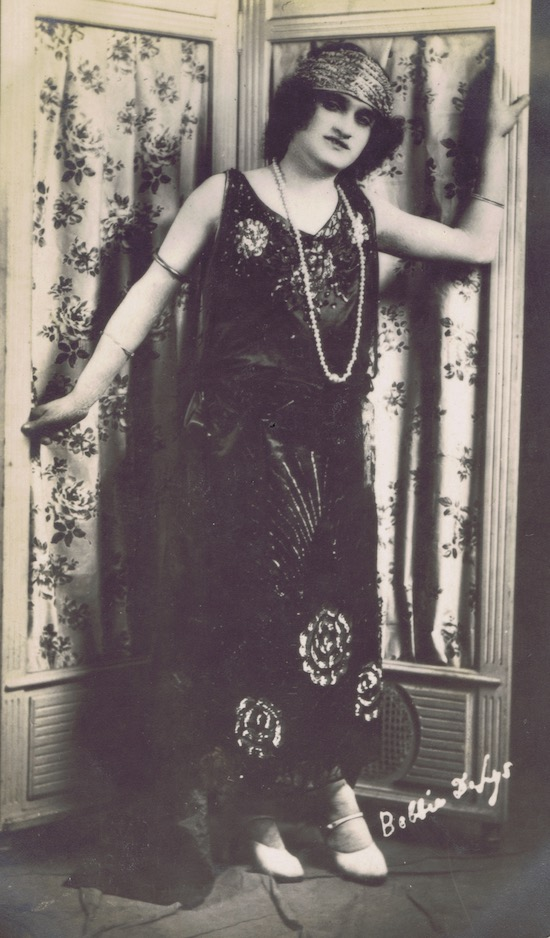 Bobby De Lys - drag performer in the Jazz Age
