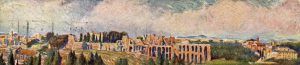 A view of Rome and the Palatine