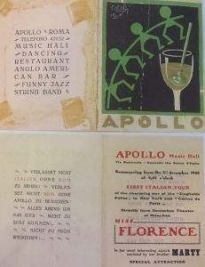 Brochure from the Apollo Music Hall, Rome, 1929