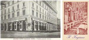 Left: The exterior of Caffe Faraglia. Right: Ristorante Fagiano, Rome