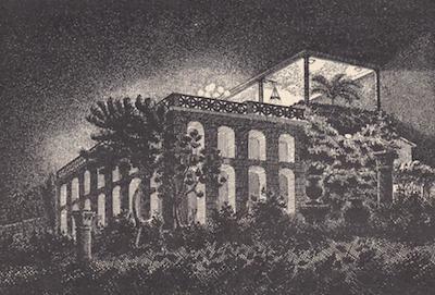 A sketch of the Ristorante Castello dei Cesari, Rome