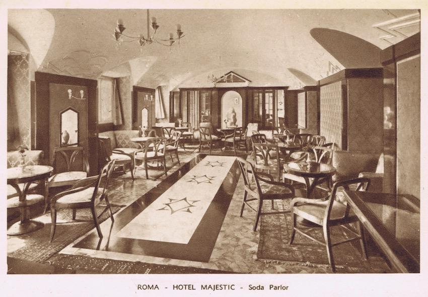 Majestic Hotel, Rome, interior of the Soda Parlour, 1920s