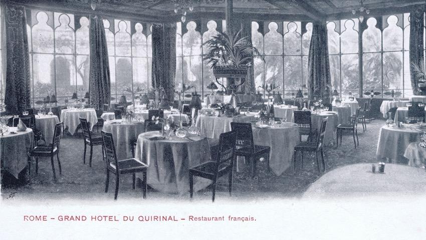 Quirnal Restaurant, Rome - interior