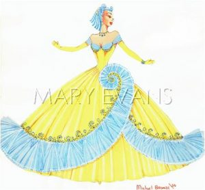 Original costume design by Michael Bronze for one of the performers at Murray's Cabaret Club, London