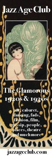 Logo and advertising for The Jazz Age Club