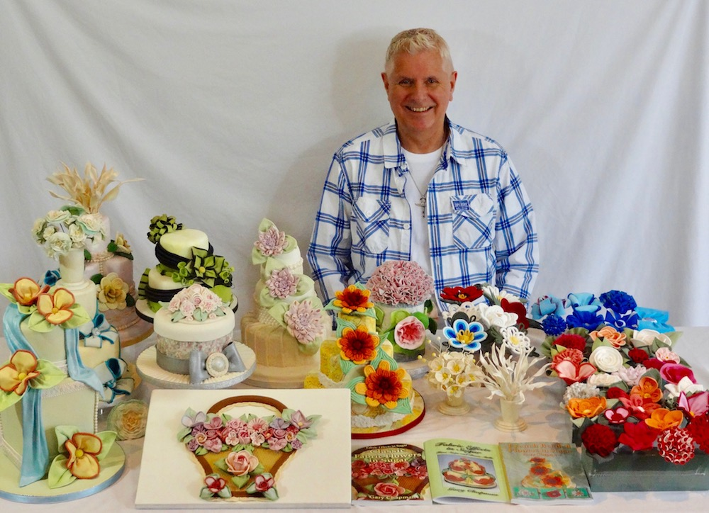 Gary Chapman with some of his cake creations