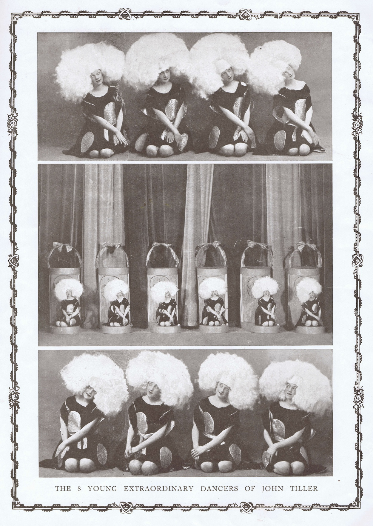 The O Ma Gaby scene in the 1923 En Pleine Folie show at the Folies Bergere, Paris, designed by Dolly Tree