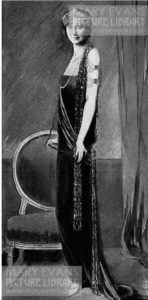 Mrs Stanley Baldwin in a Buckmaster gown worn for the Guildhall Banquet in 1924