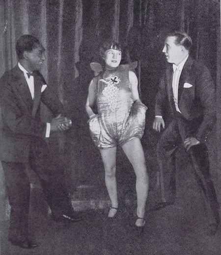 Sonny Jones with two other members of the cast in the the revue Paris Voyeurs at the Palace Theatre, Paris, 1925-26