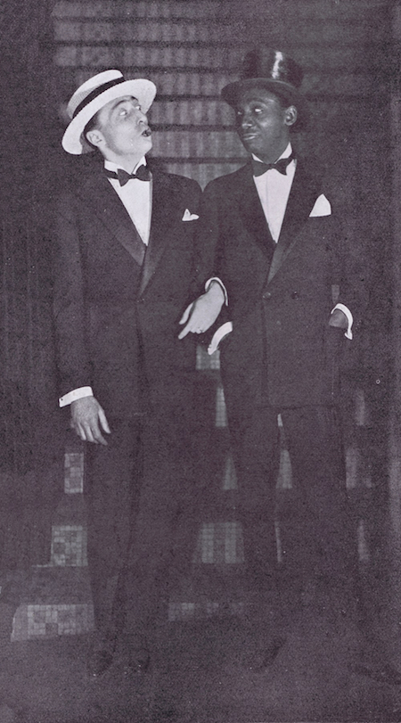 Max Berger and Sonny Jones in the revue Paris Voyagers at the Palace Theatre, Paris, 1925-26