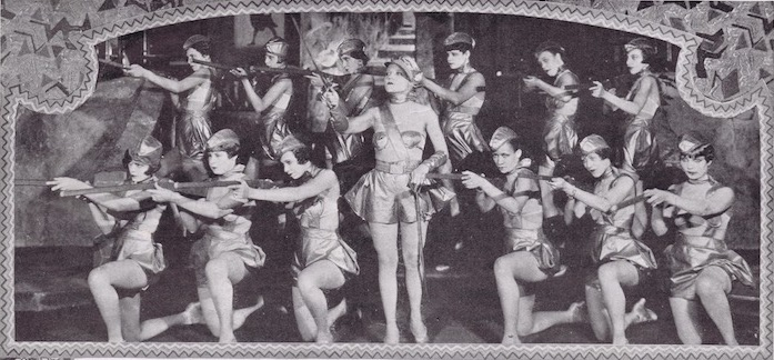 A scene from the Club Alabam, New York cabaret show in 1926 featuring the Military Drill number
