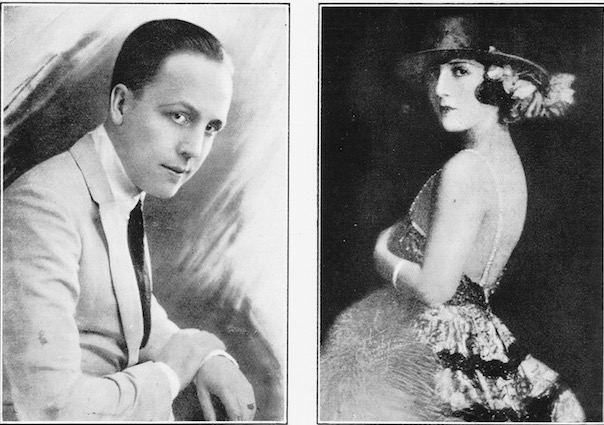 A portrait of the American dancing team of Frank and Marguerite Gill, 1920s
