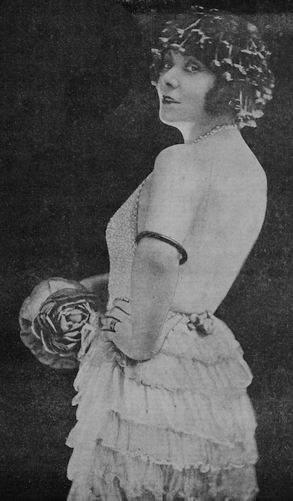 The French performer Spinelly, 1920s