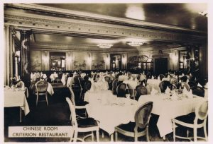 A view of the Chinese Room at the Criterion Restaurant, 1920s