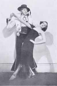 The exhibition dancers Cyril and Cynthia Horrocks, 1920s