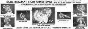 Advert for Lester's imitation rhinestones, 1918