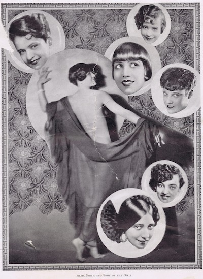 A page from the programme or brochure from the Club Alabam cabaret show, New York, in 1926 showing Alma Smith and some of the girls