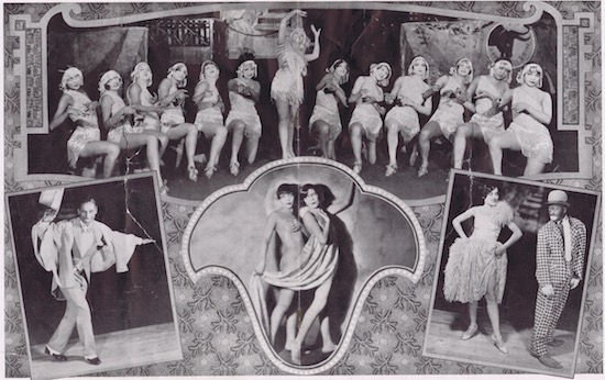 A page from the programme or brochure from the Club Alabam cabaret show, New York, in 1926 showing one of the numbers and some of the principal artists