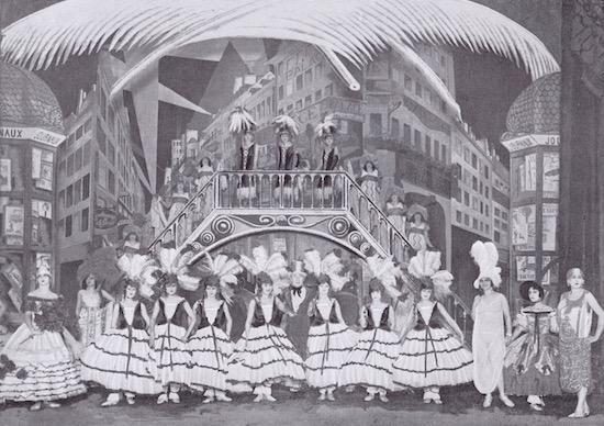 Zig's costumes for the scene Paris Boulevards, in the show Paris Voyeur at the Palace Theatre, 1925-1926