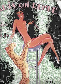 Part of a design by Zig for Josephine Baker in Paris qui Remue at the casino de Paris, 1930