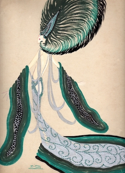 A costume design by Zig, 1920