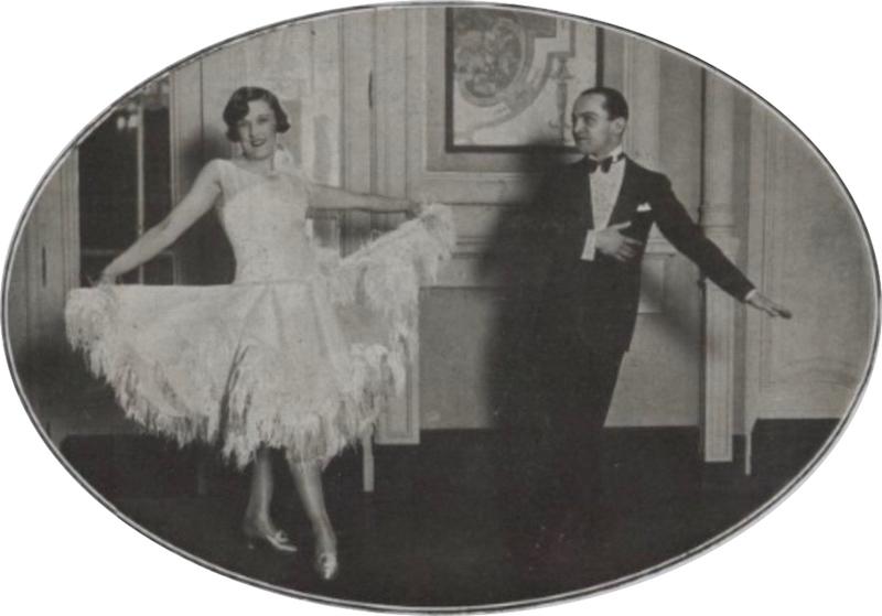 Fay Harcourt and Nicholas dancing in Biarritz, 1926