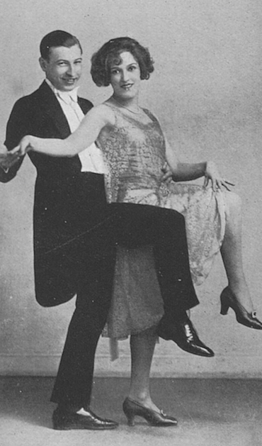 Harry Cahill and Fay Harcourt in mid-1925 dancing at Chez Victor in London