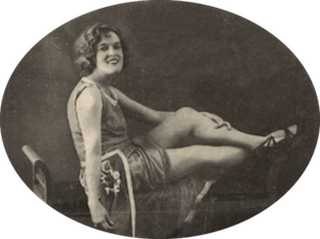Fay Harcourt in Monte Carlo, December 1923